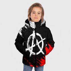 Куртка зимняя для мальчика АНАРХИЯ цвета 3D-черный — фото 2