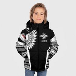 Куртка зимняя для мальчика Камуфляж Полиция цвета 3D-черный — фото 2