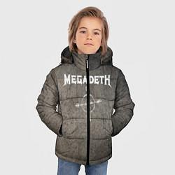 Детская зимняя куртка для мальчика с принтом Megadeth, цвет: 3D-черный, артикул: 10211240306063 — фото 2