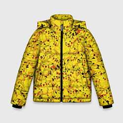 Куртка зимняя для мальчика Пикачу цвета 3D-черный — фото 1