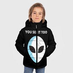 Куртка зимняя для мальчика Вы тоже это видите цвета 3D-черный — фото 2