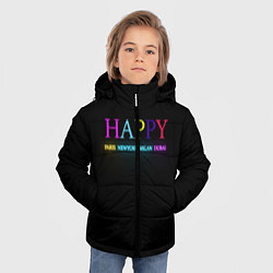 Куртка зимняя для мальчика HAPPY цвета 3D-черный — фото 2