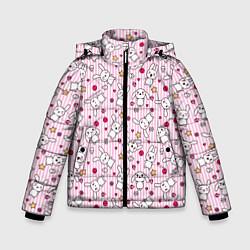 Куртка зимняя для мальчика Зайчики цвета 3D-черный — фото 1