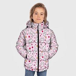 Детская зимняя куртка для мальчика с принтом Зайчики, цвет: 3D-черный, артикул: 10213994306063 — фото 2
