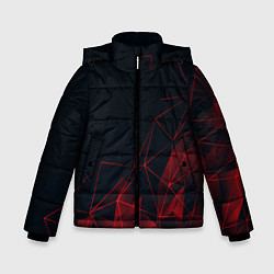 Куртка зимняя для мальчика RED STRIPES цвета 3D-черный — фото 1