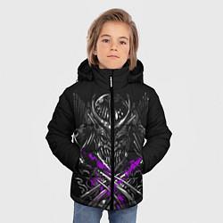 Куртка зимняя для мальчика Шредер Черепашки-ниндзя цвета 3D-черный — фото 2