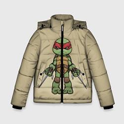 Куртка зимняя для мальчика Маленький Рафаэль цвета 3D-черный — фото 1