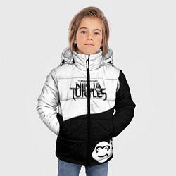 Куртка зимняя для мальчика Черепашки-ниндзя цвета 3D-черный — фото 2