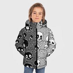 Куртка зимняя для мальчика Черепа цвета 3D-черный — фото 2