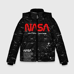 Куртка зимняя для мальчика NASA цвета 3D-черный — фото 1