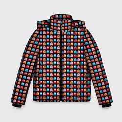 Детская зимняя куртка для мальчика с принтом Pacman, цвет: 3D-черный, артикул: 10221375506063 — фото 1