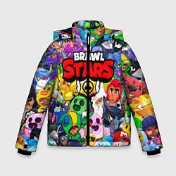 Куртка зимняя для мальчика BRAWL STARS ВСЕ БРАВЛЕРЫ цвета 3D-черный — фото 1