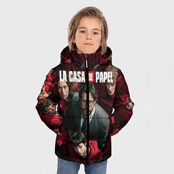 Куртка зимняя для мальчика La Casa de Papel Z цвета 3D-черный — фото 2