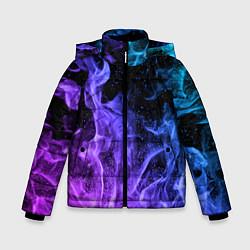 Куртка зимняя для мальчика ОГОНЬ НЕОН цвета 3D-черный — фото 1