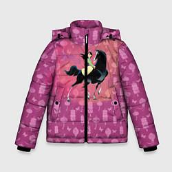 Куртка зимняя для мальчика Мулан цвета 3D-черный — фото 1