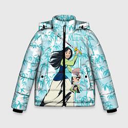 Куртка зимняя для мальчика Mulan with a Sword цвета 3D-черный — фото 1