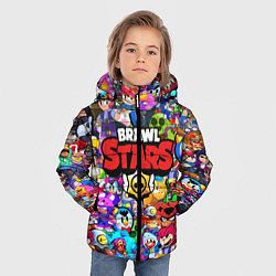 Куртка зимняя для мальчика BRAWL STARS ВСЕ ПЕРСОНАЖИ цвета 3D-черный — фото 2