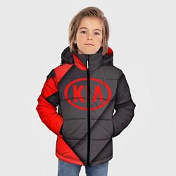 Куртка зимняя для мальчика KIA цвета 3D-черный — фото 2