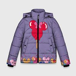Детская зимняя куртка для мальчика с принтом Минни Маус Мороженое, цвет: 3D-черный, артикул: 10250068306063 — фото 1