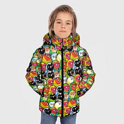 Куртка зимняя для мальчика Папуги цвета 3D-черный — фото 2