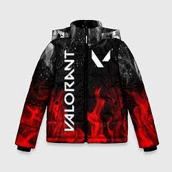 Куртка зимняя для мальчика VALORANT ВАЛОРАНТ цвета 3D-черный — фото 1