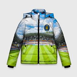 Детская зимняя куртка для мальчика с принтом FC INTER, цвет: 3D-черный, артикул: 10256804306063 — фото 1
