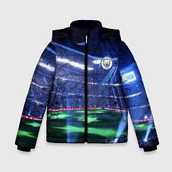Куртка зимняя для мальчика FC MANCHESTER CITY цвета 3D-черный — фото 1