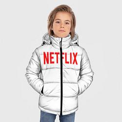 Куртка зимняя для мальчика NETFLIX цвета 3D-черный — фото 2