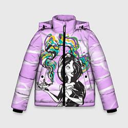 Куртка зимняя для мальчика Жасмин с лампой цвета 3D-черный — фото 1