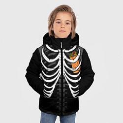 Куртка зимняя для мальчика Шаверма в груди цвета 3D-черный — фото 2