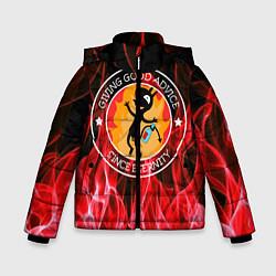 Куртка зимняя для мальчика FIRE цвета 3D-черный — фото 1