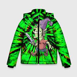 Куртка зимняя для мальчика ЭЛФО цвета 3D-черный — фото 1