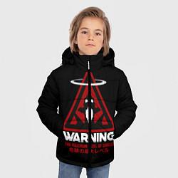 Куртка зимняя для мальчика Евангелион цвета 3D-черный — фото 2