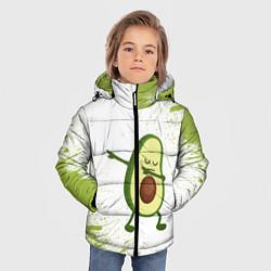 Куртка зимняя для мальчика Авокадо цвета 3D-черный — фото 2