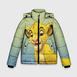 Куртка зимняя для мальчика Юный Симба цвета 3D-черный — фото 1