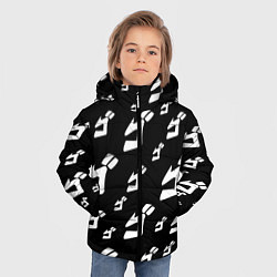 Куртка зимняя для мальчика JoJo Bizarre Adventure цвета 3D-черный — фото 2