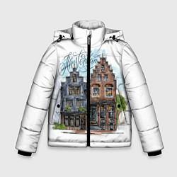 Куртка зимняя для мальчика Амстердам цвета 3D-черный — фото 1