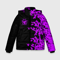 Куртка зимняя для мальчика ПРОКЛЯТАЯ ПЕЧАТЬ САСКЕ цвета 3D-черный — фото 1