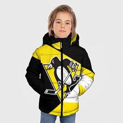Куртка зимняя для мальчика Pittsburgh Penguins Exclusive цвета 3D-черный — фото 2