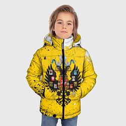 Куртка зимняя для мальчика РОССИЙСКАЯ ИМПЕРИЯ цвета 3D-черный — фото 2