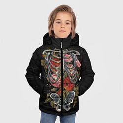 Куртка зимняя для мальчика Halloween цвета 3D-черный — фото 2