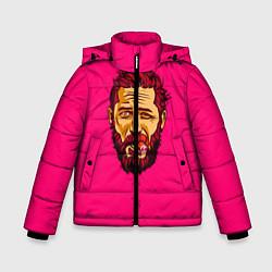 Куртка зимняя для мальчика ХАРДИ цвета 3D-черный — фото 1
