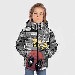 Детская зимняя куртка для мальчика с принтом Deadpool, цвет: 3D-черный, артикул: 10275016106063 — фото 2