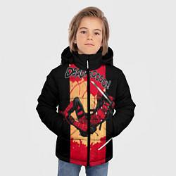 Детская зимняя куртка для мальчика с принтом Deadpool шесть непослушных рук, цвет: 3D-черный, артикул: 10275016906063 — фото 2