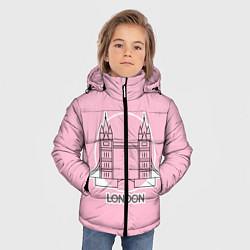 Куртка зимняя для мальчика Лондон London Tower bridge цвета 3D-черный — фото 2