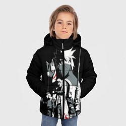 Куртка зимняя для мальчика Какаши АНБУ Наруто цвета 3D-черный — фото 2