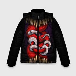 Куртка зимняя для мальчика Monster and snake цвета 3D-черный — фото 1