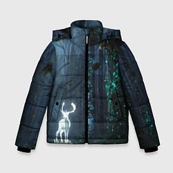 Куртка зимняя для мальчика Олень цвета 3D-черный — фото 1