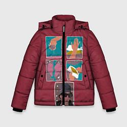 Куртка зимняя для мальчика SLAVA MARLOW Снова я напиваюсь цвета 3D-черный — фото 1