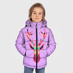 Куртка зимняя для мальчика Олень, deer цвета 3D-черный — фото 2